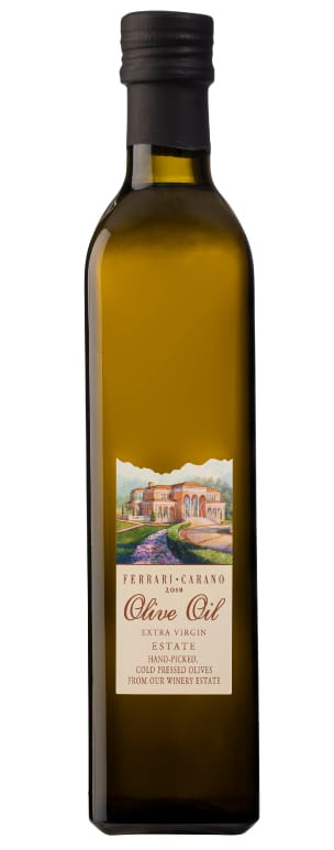 The 2018 Ferrari-Carano Estate Extra Virgin Olive Oil bottle